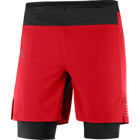 Salomon Exo Motion Twinskin Shorts Herrer, goji berry